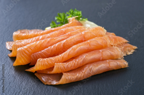 Deurstickers Vis Smoked Salmon