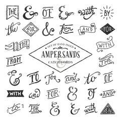 handgeschriebene et-Zeichen und Schlagwörter