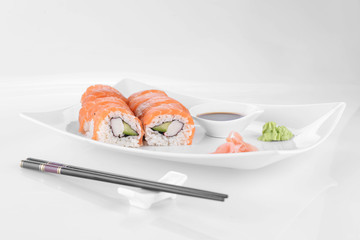 sushi with salmon