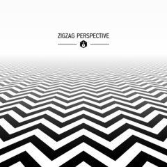 Zigzag pattern in perspective