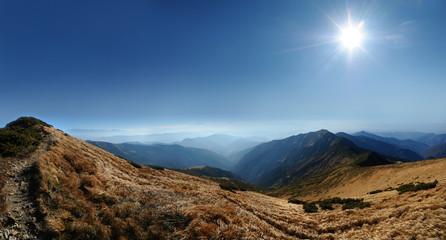 Panorama Carpathian mountains