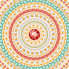 Colorful round jewels background.