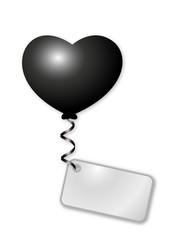 Herzballon mit Botschaft
