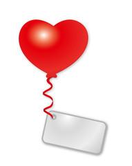 rotes Herz mit Botschaft