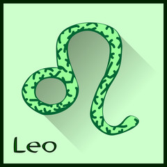 Leo  Zodiac sign vector illustration