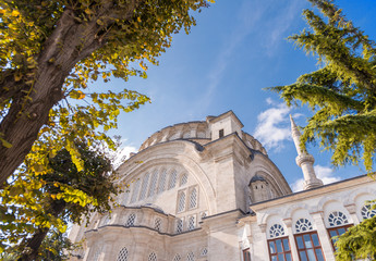 Magnificent architecture of Blue Mosque in Istanbul