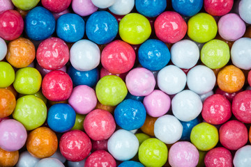 coated colored dragee candies