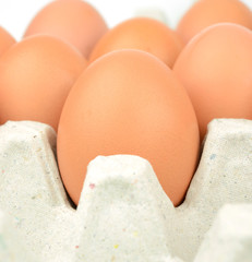 egg on carton package