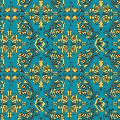 Turquoise Arabic pattern