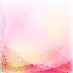 Pink abstract background with hearts