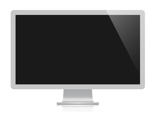 vector computer monitor isolated on white