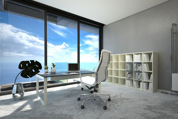 Bright modern spacious office interior