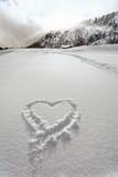 heart in snow