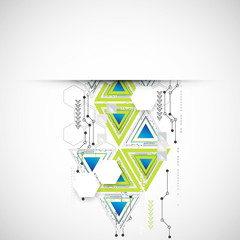 Abstract technology triangle background.