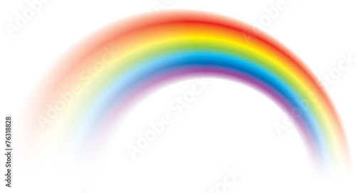Vivid vector colorful rainbow shining blurred - 76318828