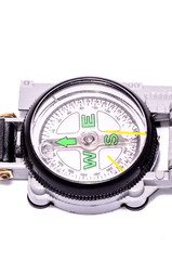 Gray Military Vintage Compass