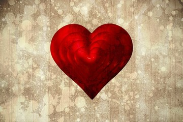 Composite image of red love heart