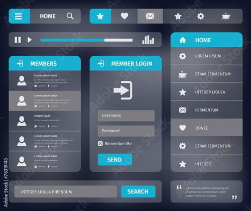 vector mobile web UI template design - 76319418