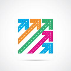 Flèches en diagonale