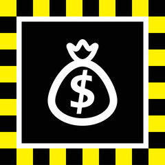bag with money vector icon