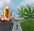 Leinwanddruck Bild - Marijuana Medical Choice