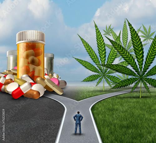 Leinwanddruck Bild Marijuana Medical Choice
