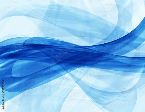 Fotobehang Abstract wave Abstract background-Blue waves