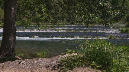 Krka river and the summer breeze