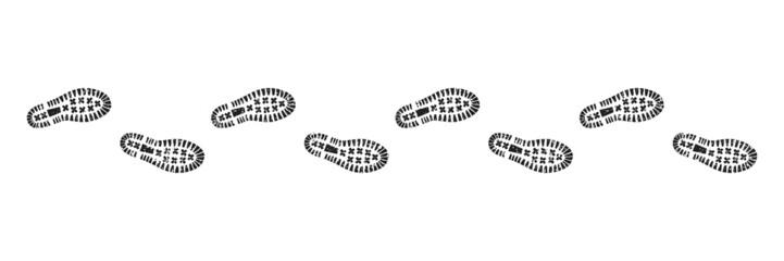 Spur, Schuhabdruck mit Profil, Vektor, freigestellt, sandig