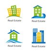 set of logos of real estate on a white background