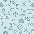 Nautical seamless pattern - 76322865