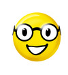 canvas print picture - Smiley mit Brille