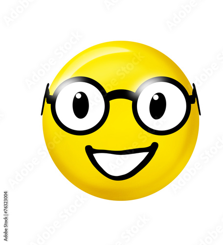 canvas print picture Smiley mit Brille