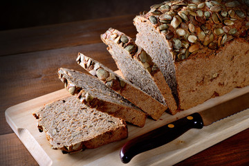 Rye bread with pumpkin seeds