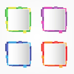 Set of abstract web design