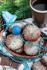 Chocolate crinkles cookies