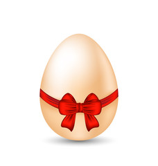 Easter celebration egg wrapping red bow