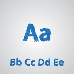 Jeans alphabet. Denim letters