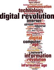 Digital revolution word cloud concept. Vector illustration