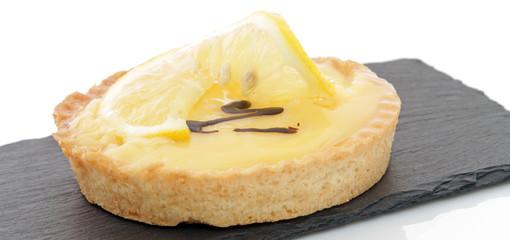 Tarte citron sur ardoise