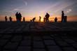 canvas print picture - Sunset Menschen Fotografen