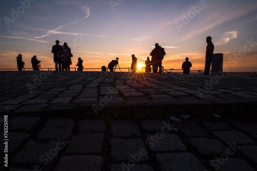 canvas print picture Sunset Menschen Fotografen