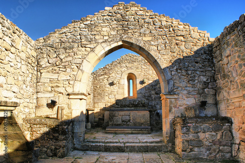 Church ruins in historical village of Castelo Mendo, Portugal