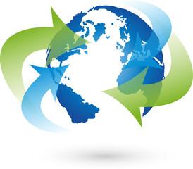 Logo, Erde, Globus, Weltkugel, Vektor