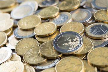 Ammasso di monete euro
