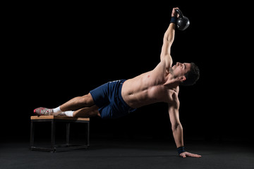 Workout with  kettle bell