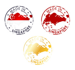 made in Singapore stamp
