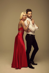 Beautiful fashion couple
