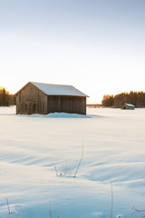 Barns In The Winter Sunrise 3