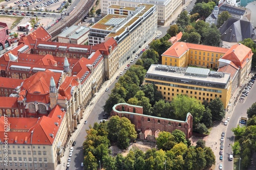 canvas print picture Berlin aerial view